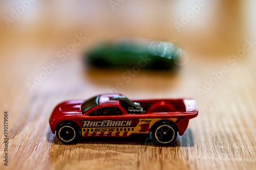 фотография POZNAN, POLAND - Oct 13, 2020: Mattel Hot Wheels toy model race car