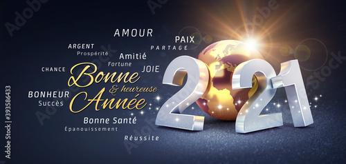 2021 carte nouvelle année meilleurs voeux