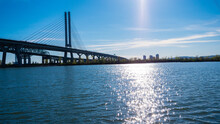 Champlain Bridge Near Montreal