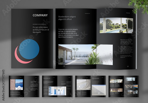 Black Digital Corporate Brochure Layout