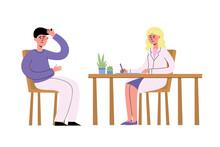 Vector Illustration Of Doctor ...