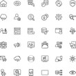 internet vector icon set such as: fund, hyperlink, mining, cash, speech, badge, contour, production, exploration, ppc, play, workspace, look, webinar, generation, news, daily, master, clip