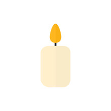 Candle Flat Icon. Light Burn O...