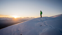 Winter Trekker Staying On Moun...