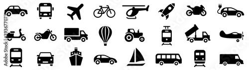 Obraz na plátne Transport icon. Transportation symbols set vector