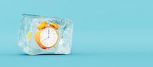 Frozen Orange Clock, Stopping ...