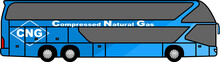 Double Decker Tourist Bus - Bus - CNG -  Compressed Natural Gas - Tourist - Clean Energy - Tourismus - Icon - 6x2 - Vector