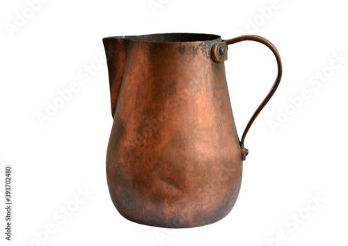 Antique copper jug - fototapety na wymiar