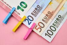 10, 20, 50, 100 Euro Banknotes...