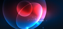 Neon Ellipses Abstract Backgro...