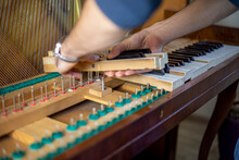 String Wooden Piano Keys On Pi...