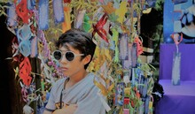 Confident Boy Wearing Sunglasses During Tanabata Festival