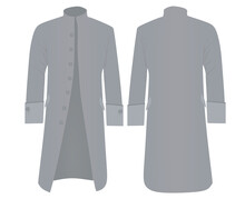 Grey  Retro Coat. Vector Illustration