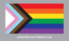 Updated Gay Pride Flag Icon. New LGBTQ  Rights Symbol