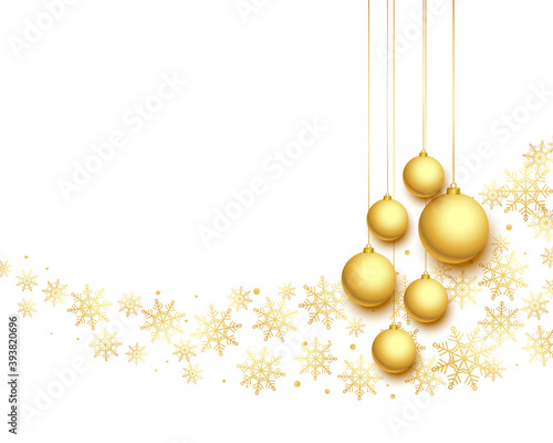 Photo lovely christmas festival greeting in white and golden colors