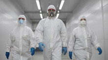 Team Of Virologists In Hazmat ...