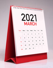 Simple Desk Calendar 2021 - March