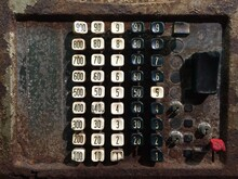 Close-up Of Numbers On Old Telephone