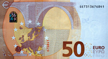 Fragment Part Of 50 Euro Bankn...