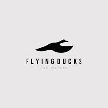 Flying Duck Logo Vector Illust...