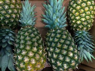 ananas owoc jedzenie zielony świeży