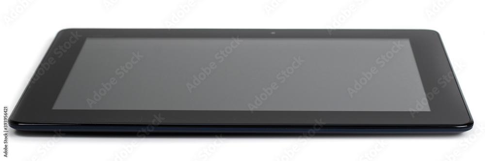Fototapeta Modern black tablet pc isolated on white.
