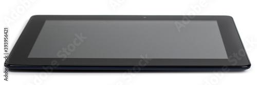 Fototapeta Modern black tablet pc isolated on white. obraz