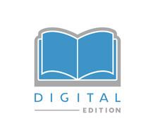 Creative Design Of Digital Book Edition Symbol