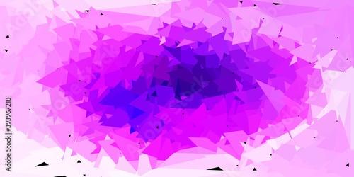 Light purple, pink vector gradient polygon layout.