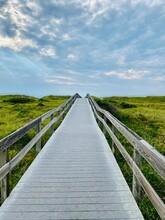 Walkway Over Beach Dunes. Ocracoke Island, North Carolina