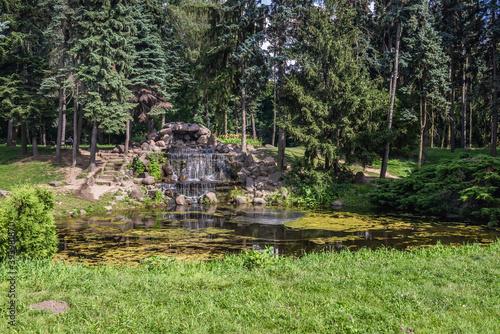 Cuadros en Lienzo One of the ponds in Skaryszewski Park - monumental park in the Praga Poludnie di