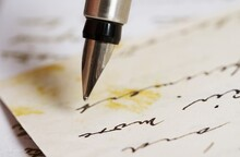Letter Being Written By Hand