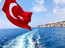 Turkish Flag By Sea