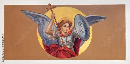 Canvas Print VIENNA, AUSTIRA - OCTOBER 22, 2020: The fresco of St