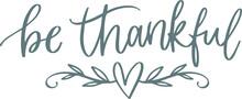 Be Thankful Background Logo Si...