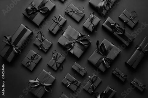 Obraz na płótnie Elegant black Christmas theme