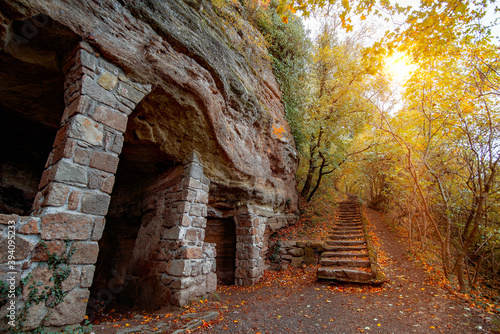 Papel de parede Monk caves Thihany hills Hungary
