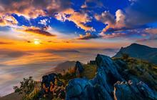 Sunrise And Misty At Doi Phata...
