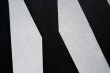 Black And White Stripes Painted On Wall