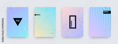 Obraz Background designs, set of modern pastel colored covers, abstract patterns, vector illustration - fototapety do salonu