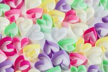Rainbow Paper Hearts