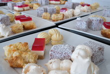 Plates Of Cakes At Fundraising Event