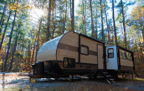 Fotografiet Camping at Jordan Lake North Carolina
