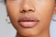 Gorgeous Hydrated Lips Closeup