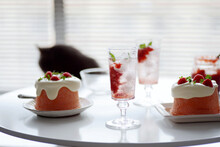 Home Made Pink Strawberry Cake...