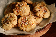 Home Made Sesame Cookies, On T...