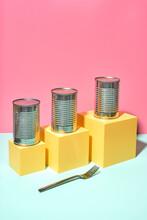 Colorful Non-Perishable Canned Goods