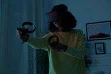 VR Game Shooting Zombies At Ni...