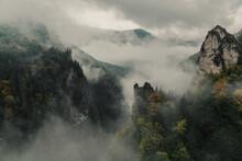 Fog Over The Mountains Slovakia Mala Fatra