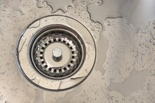 Close-up Of Wet Sink